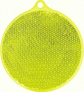 Heiastin pyöreä 55x61mm keltainen
