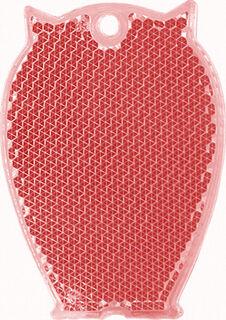 Heiastin pöllö 46x65mm punainen