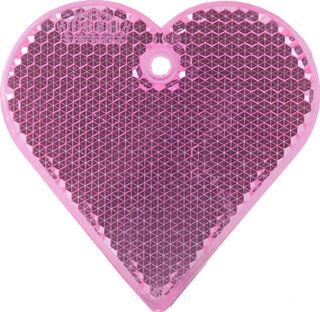 Heiastin sydän 57x57mm pinkki
