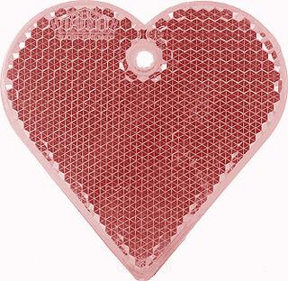 Heiastin sydän 57x57mm punainen